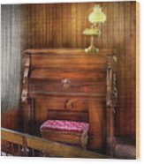 Music - Organist - A Vital Organ Wood Print by Mike Savad