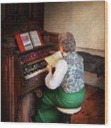 Music - Organist - The Lord Is My Shepherd  Wood Print