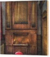 Music - Organist - What A Big Organ You Have  Wood Print