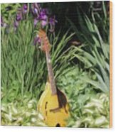 Music And Flowers Wood Print