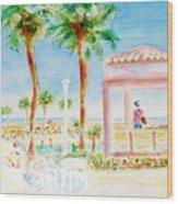 Music At Orange Beach Wood Print