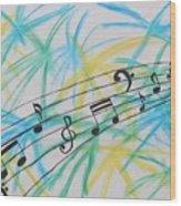 Music Burst Wood Print
