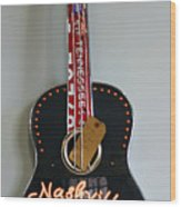 Music City Guitar Wood Print