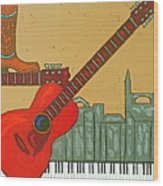 Music City Wood Print