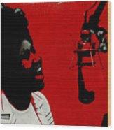 Music Icons - Aretha Franklin Ill Wood Print