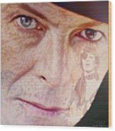 Music Icons - David Bowie Vll Wood Print