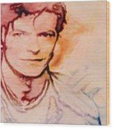 Music Icons - David Bowie Vlll Wood Print
