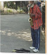 Music In Tompkins Square Wood Print