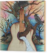 Music Is My Nature Wood Print