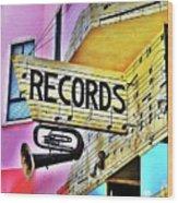 Its About Vinyl Wood Print