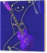 Music Lady Wood Print