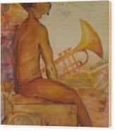 Music Man Wood Print