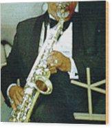 Music Man Saxophone 2 Wood Print