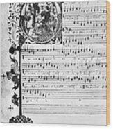Music Manuscript, 1450 Wood Print