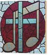 Music Of The Cross Wood Print