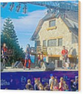 Musical Entertainment In Central Park In Bariloche-argentina Wood Print