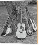Musical Instruments Wood Print
