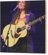 Musician Rosanne Cash Wood Print