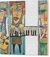 Musician Trio Wood Print