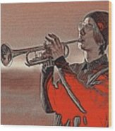 Musician Youth 4 Wood Print