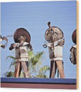 Musicians At The Hotel California Todos Santos Mx Wood Print