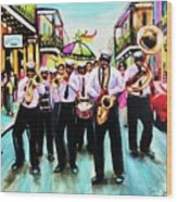 Musique De' Rue Wood Print