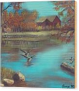 Muskego Lake Wood Print