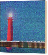 Muskegon Lighthouse Wood Print