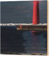 Muskegon Mi Lighthouse Wood Print