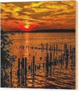 Muskegon Sunset Wood Print