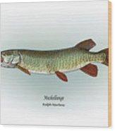 Muskellunge Wood Print