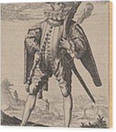 Musketeer Wood Print