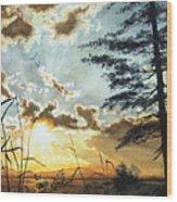 Muskoka Dawn Wood Print