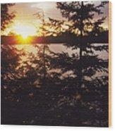 Muskoka Lake Of Bays Sunrise Wood Print