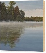 Muskoka Morning Mist Wood Print