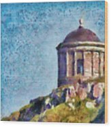 Mussenden Temple Wood Print
