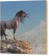 Mustang Wood Print