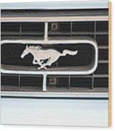 Mustang Logo Wood Print