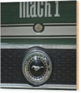 Mustang Mach 1 Emblem Wood Print