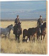 Mustang 'n' Cowboys Wood Print