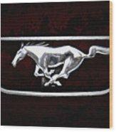 Mustang Pony Logo Wood Print