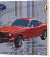 Mustang Poster Wood Print