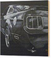Mustang Rear Wood Print