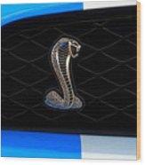 Mustang Shelby Logo Wood Print