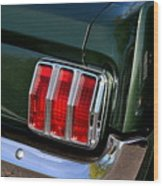 Mustang Tail Light Wood Print
