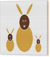 Mustard Bunnies Wood Print by Frank Tschakert