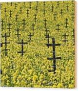 Mustard Color In The Vineyard  Napa Ca. Wood Print