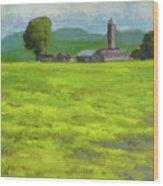Mustard Fields Indiana Wood Print