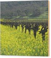 Mustard Flowers Wood Print