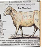 Mutton Wood Print by French School